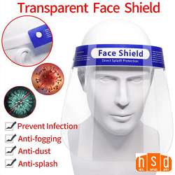 Transparent Safety Face Shield, Reusable Protective Full Face Shield Anti Fog Safety Visor Eye for Women and Men. Low as $2.50